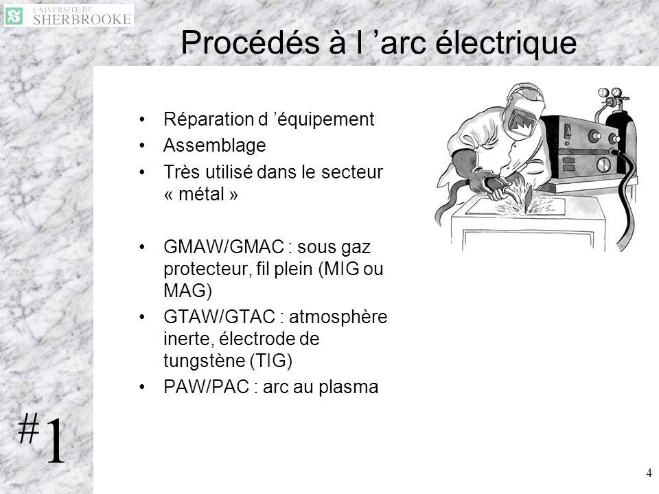 Procédés à l 'arc électrique