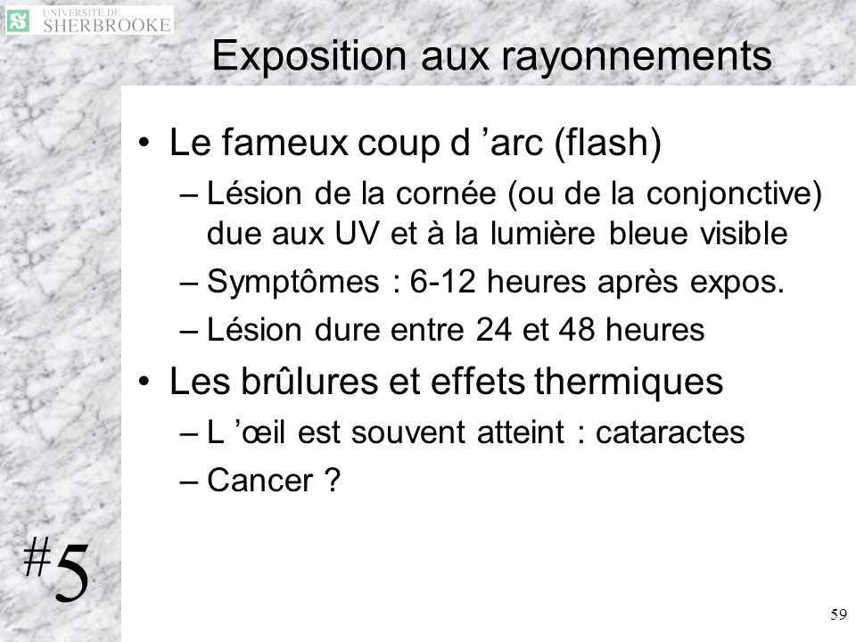 Exposition aux rayonnements