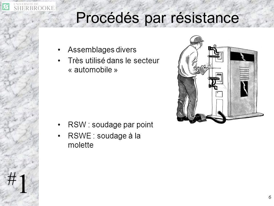 Procédés par résistance