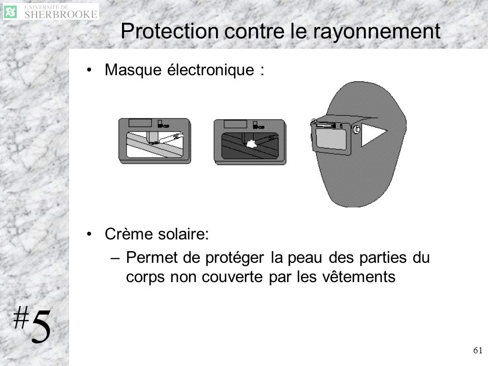 Protection contre le rayonnement