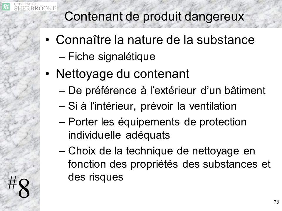 Contenant de produit dangereux