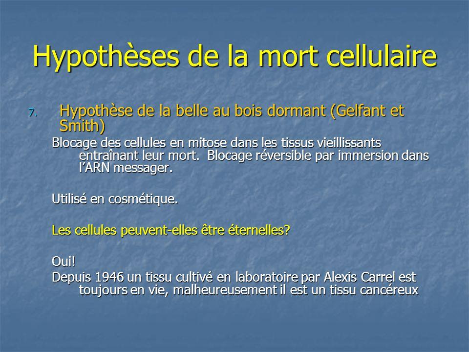 Hypothèses de la mort cellulaire