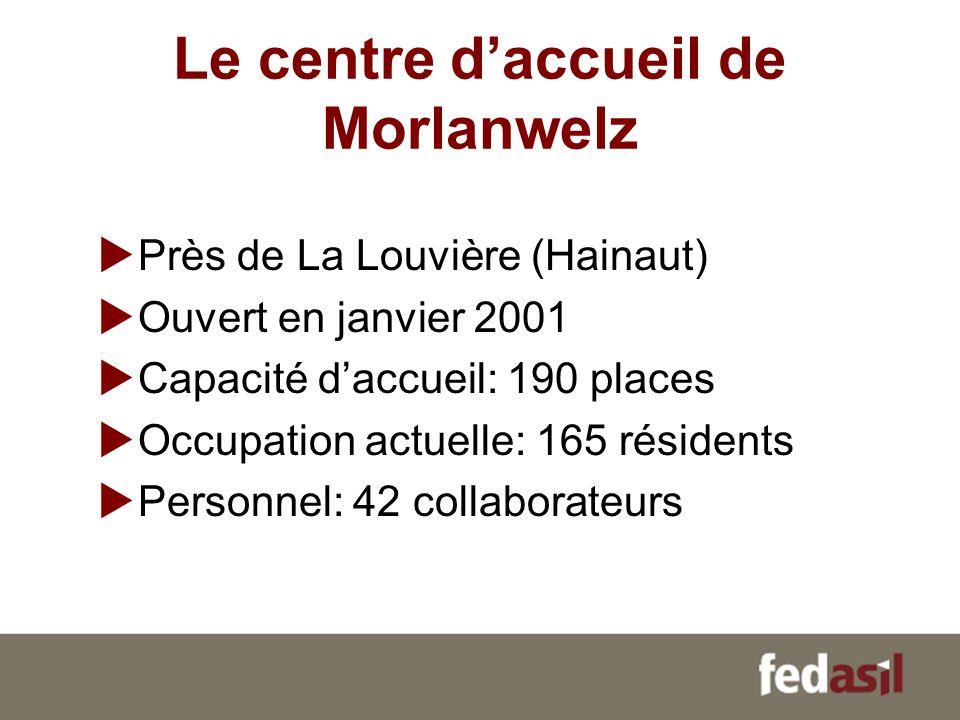 Le centre d'accueil de Morlanwelz