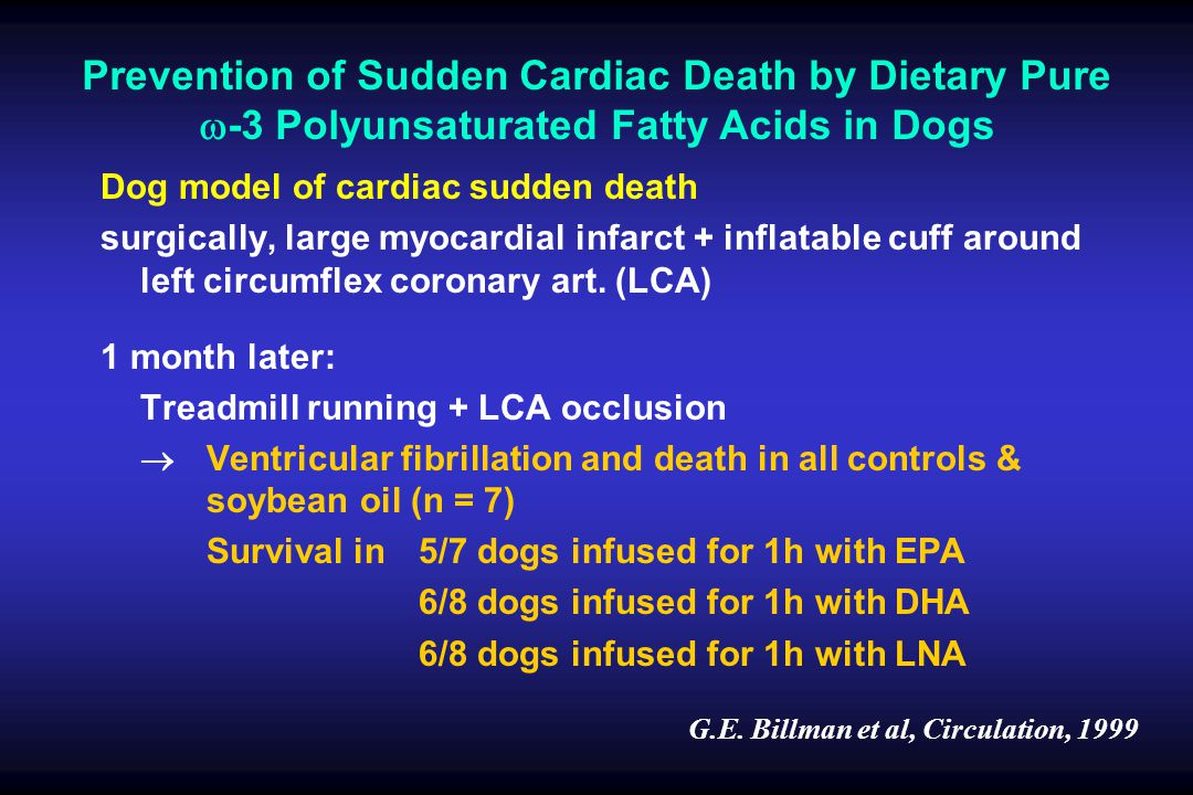 Prevention of Sudden Cardiac Death by Dietary Pure w-3 Polyunsaturated Fatty Acids in Dogs