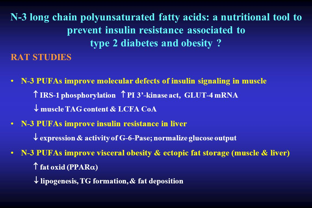 N-3 long chain polyunsaturated fatty acids: a nutritional tool to prevent insulin resistance associated to type 2 diabetes and obesity
