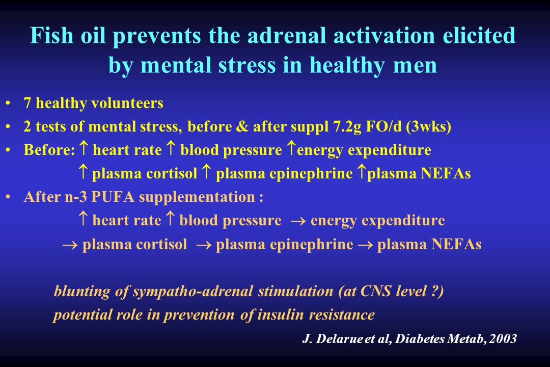 Fish oil prevents the adrenal activation elicited by mental stress in healthy men