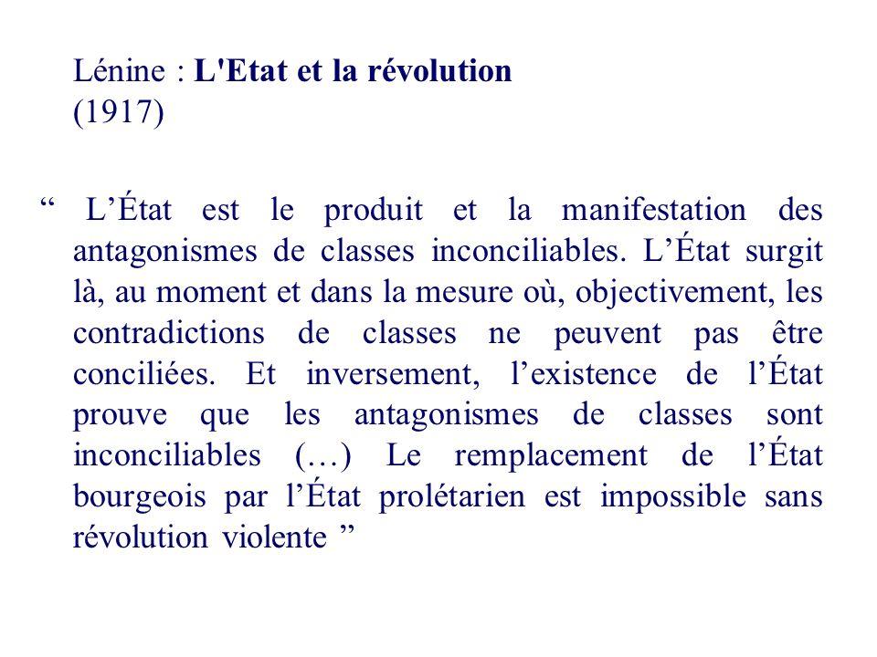 Lénine : L Etat et la révolution (1917)