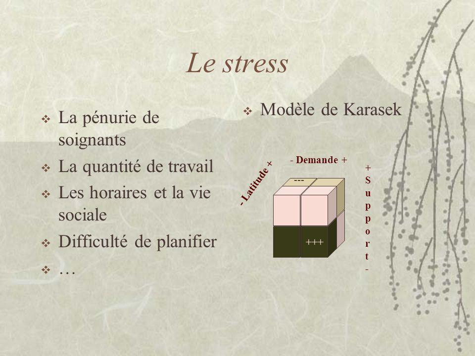 Le stress Modèle de Karasek La pénurie de soignants