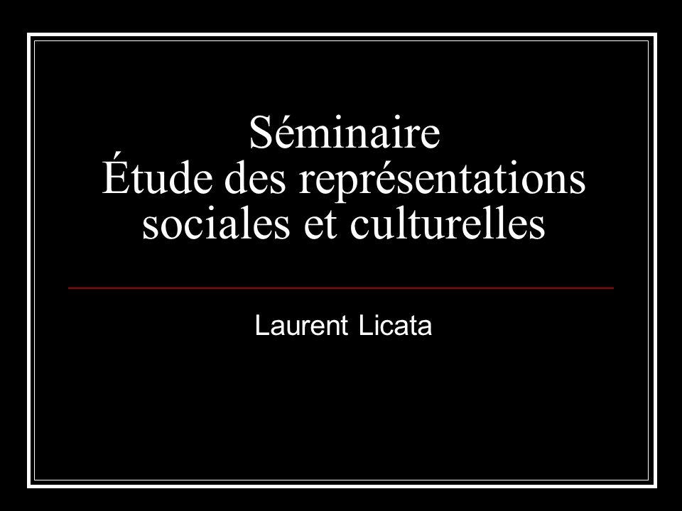 Séminaire Étude des représentations sociales et culturelles