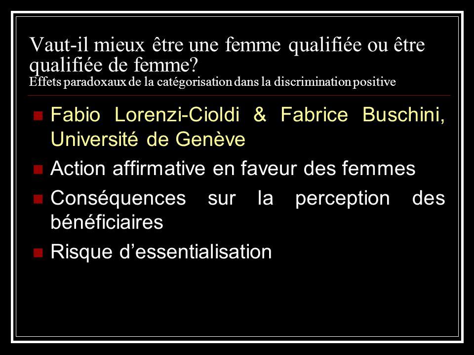 Vaut-il mieux être une femme qualifiée ou être qualifiée de femme