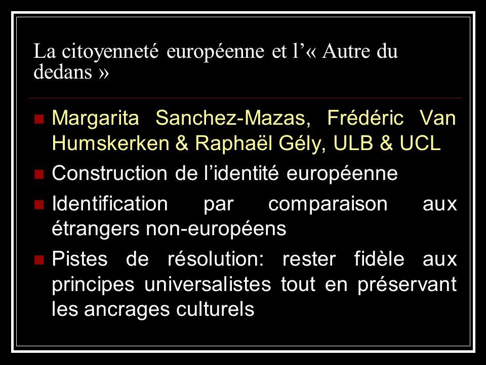La citoyenneté européenne et l'« Autre du dedans »