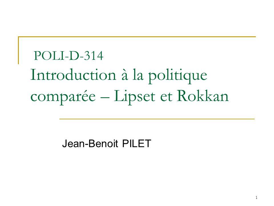 POLI-D-314 Introduction à la politique comparée – Lipset et Rokkan