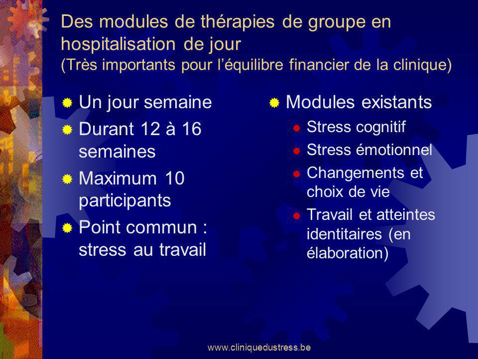 Point commun : stress au travail Modules existants