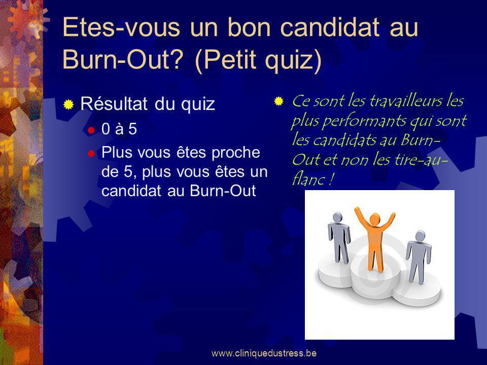 Etes-vous un bon candidat au Burn-Out (Petit quiz)