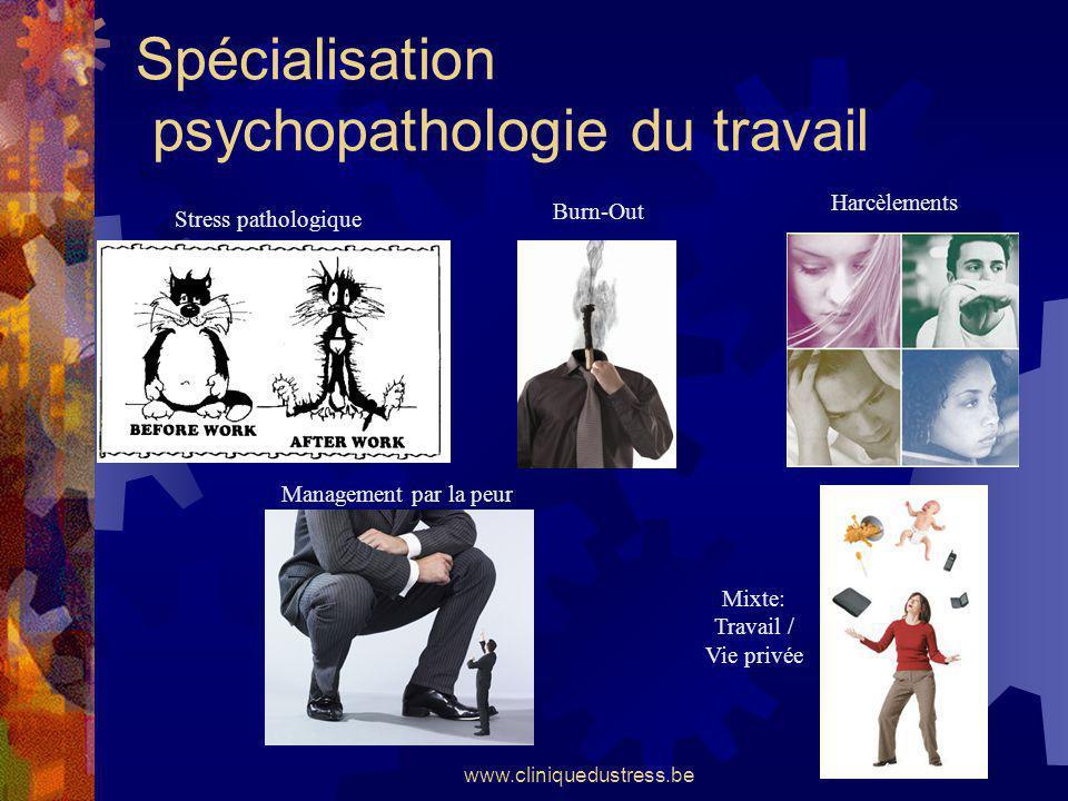 Spécialisation psychopathologie du travail
