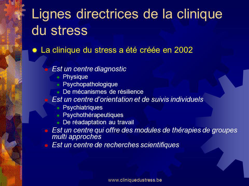 Lignes directrices de la clinique du stress