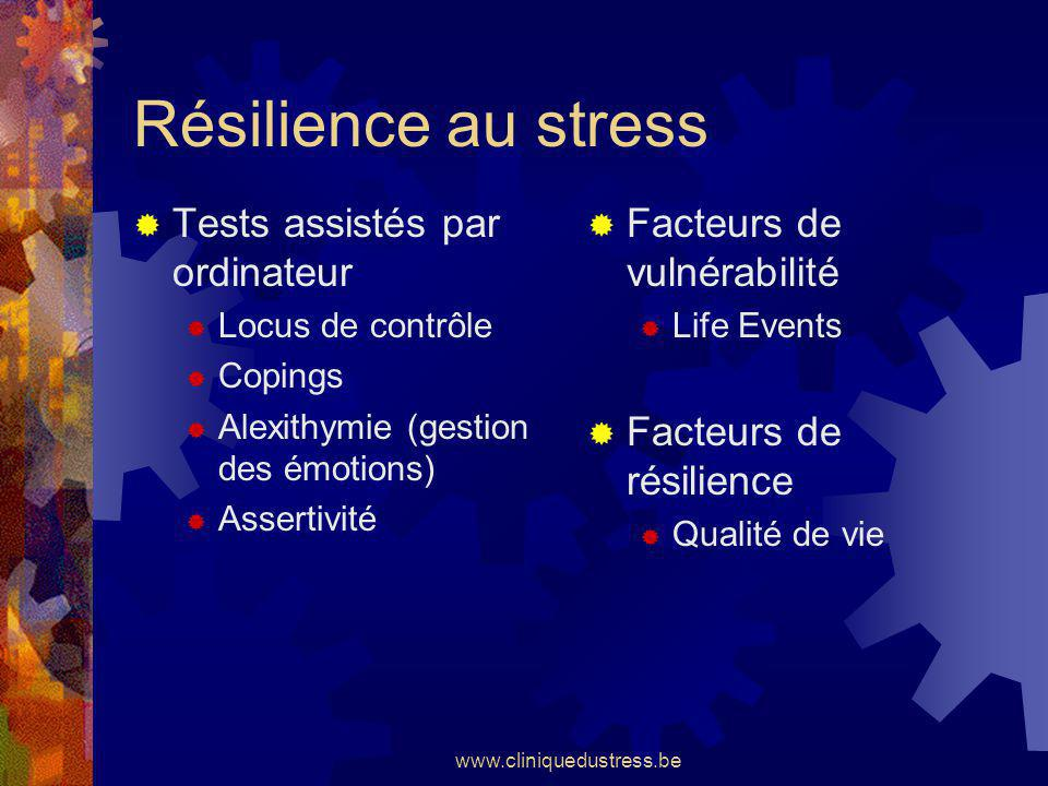 Résilience au stress Tests assistés par ordinateur
