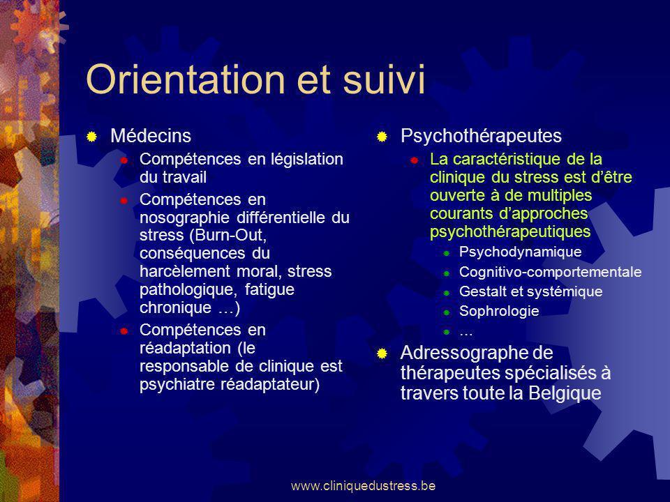 Orientation et suivi Médecins Psychothérapeutes