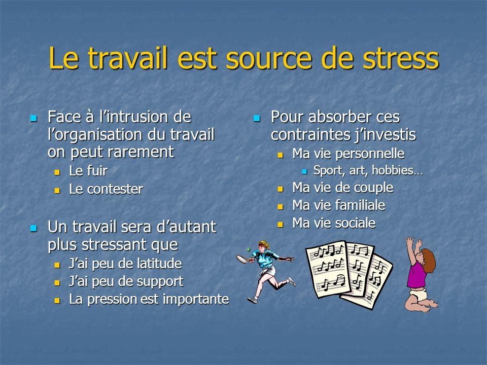 Le travail est source de stress