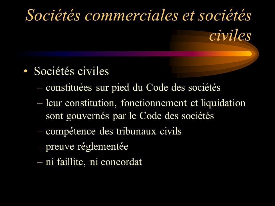 Sociétés commerciales et sociétés civiles