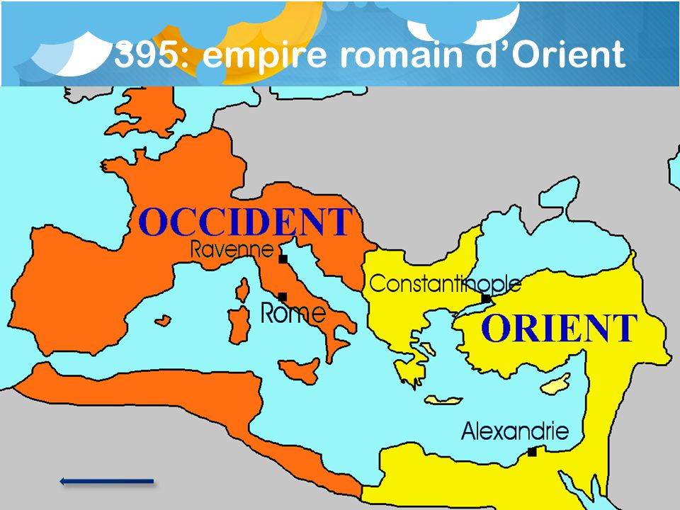 395: empire romain d'Orient