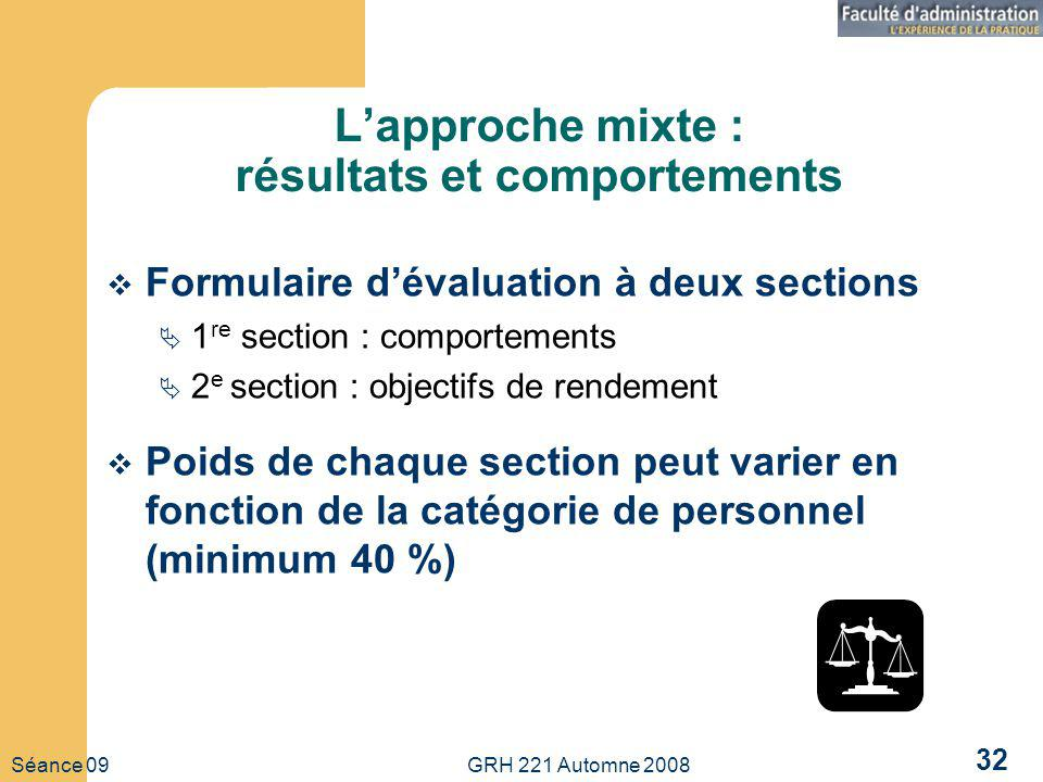 L'approche mixte : résultats et comportements