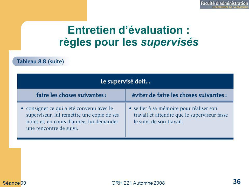 Entretien d'évaluation : règles pour les supervisés
