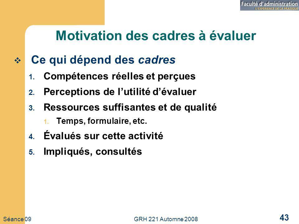 Motivation des cadres à évaluer