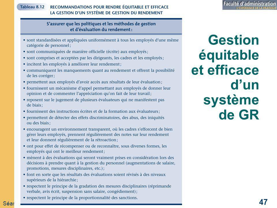 Gestion équitable et efficace d'un système de GR
