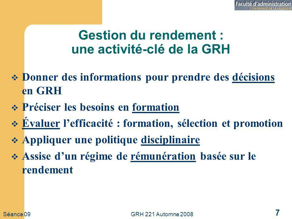 Gestion du rendement : une activité-clé de la GRH