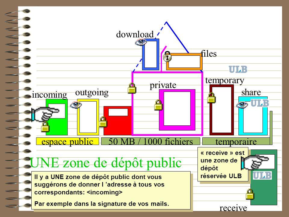 UNE zone de dépôt public