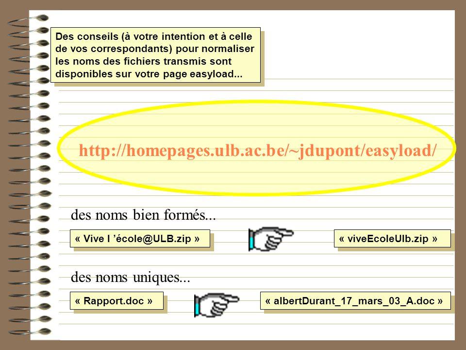 http://homepages.ulb.ac.be/~jdupont/easyload/ des noms bien formés...
