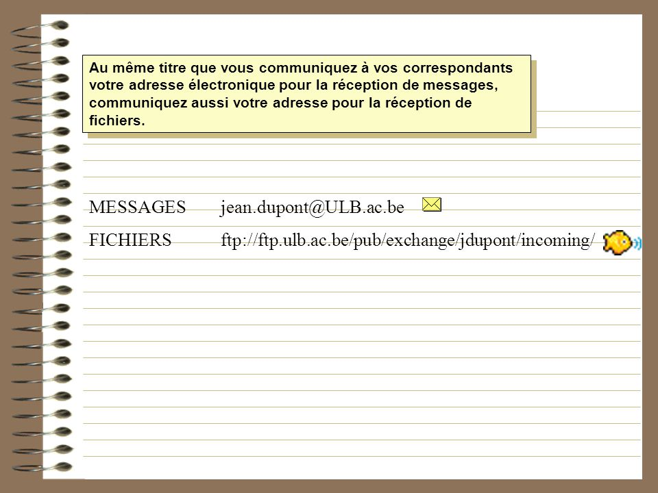 MESSAGES jean.dupont@ULB.ac.be