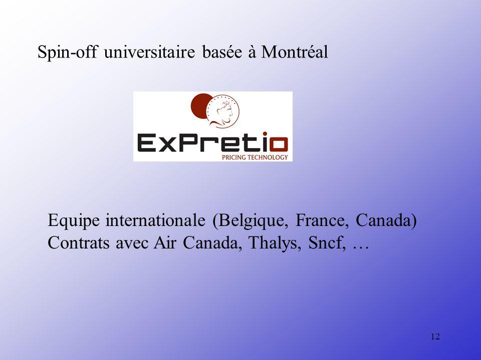 Spin-off universitaire basée à Montréal