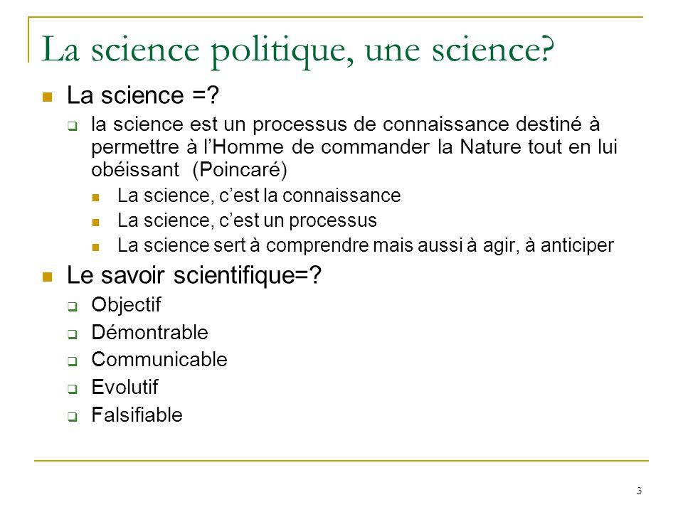 La science politique, une science