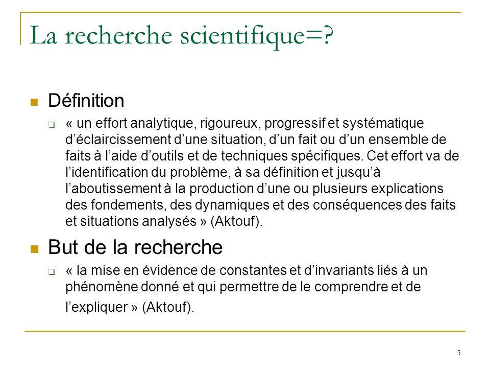 La recherche scientifique=