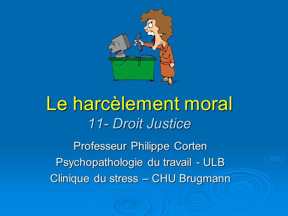 Le harcèlement moral 11- Droit Justice