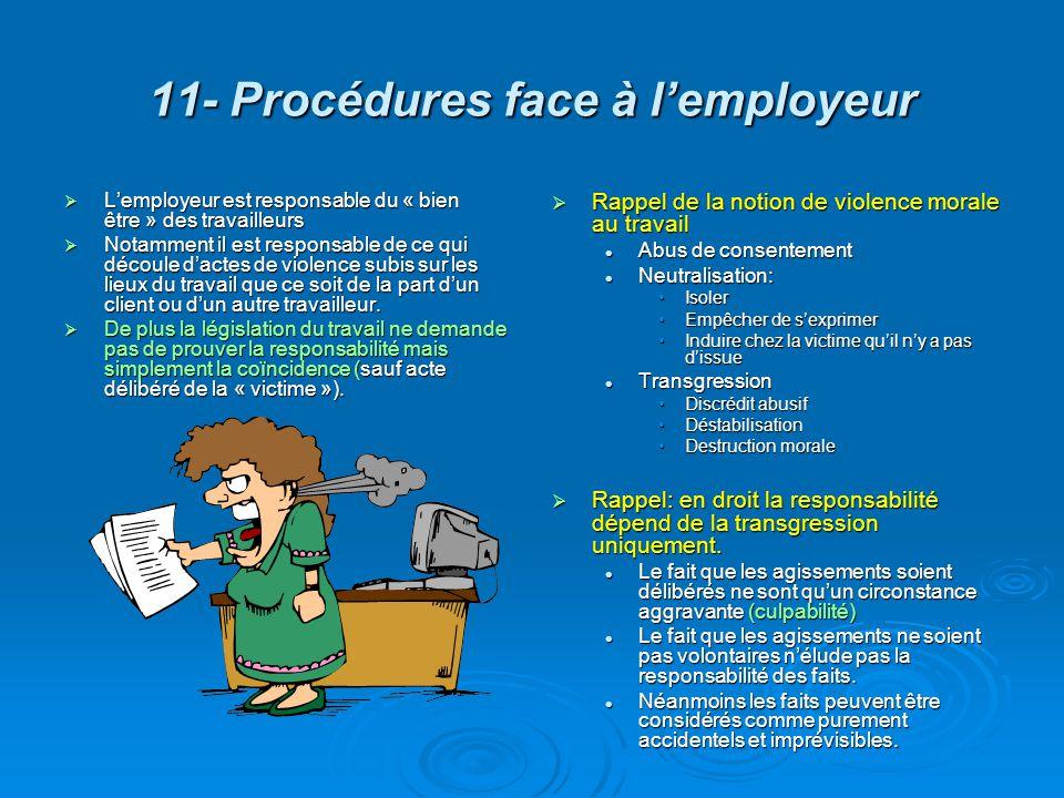 11- Procédures face à l'employeur