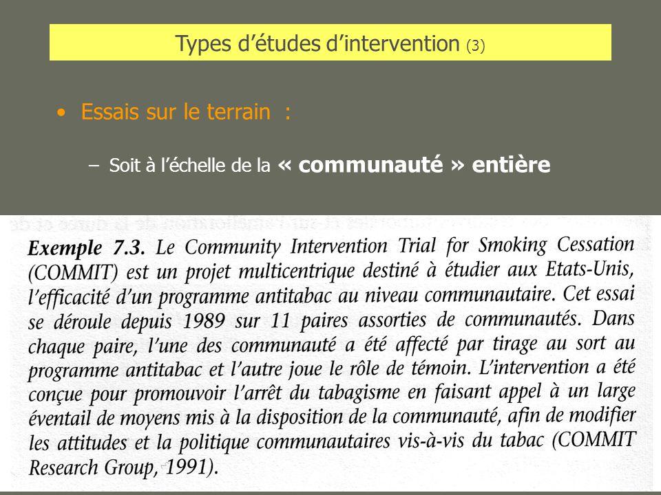 Types d'études d'intervention (3)
