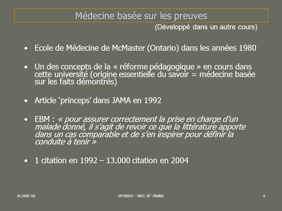 Médecine basée sur les preuves