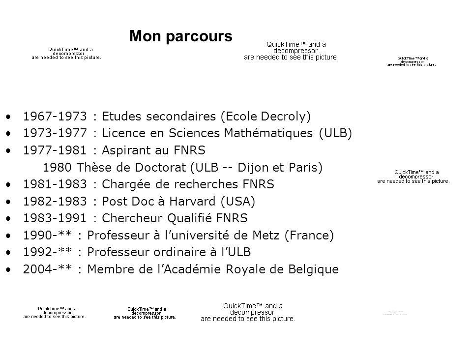 Mon parcours 1967-1973 : Etudes secondaires (Ecole Decroly)