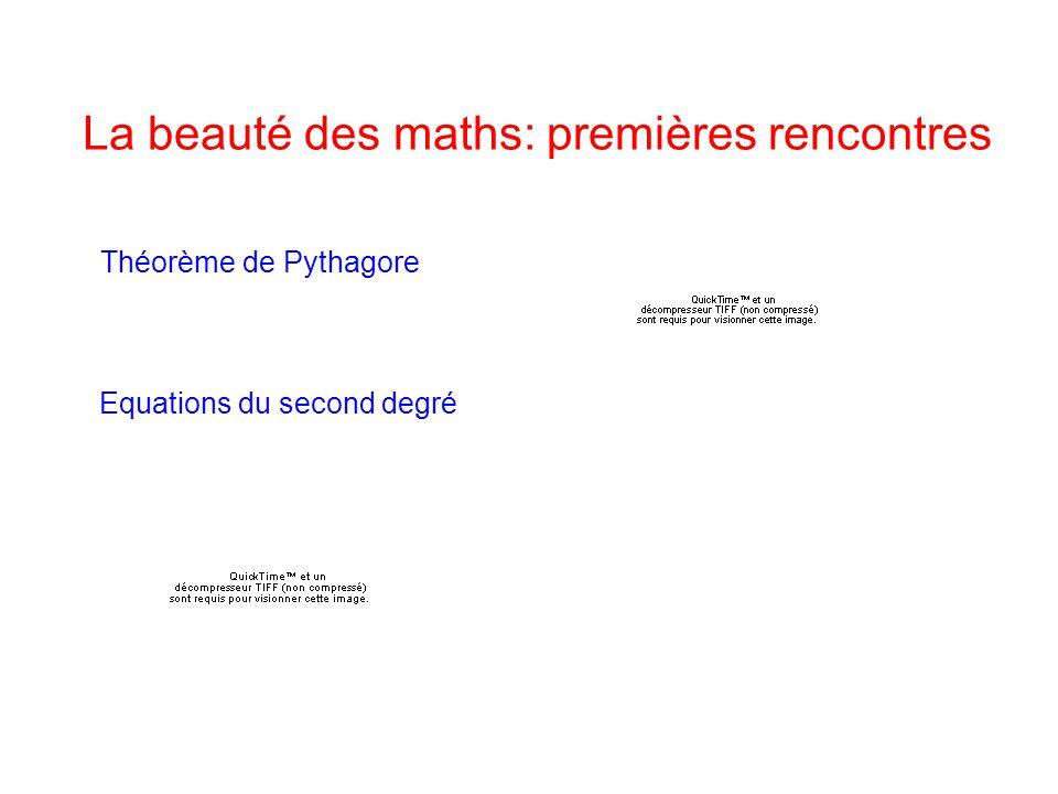 La beauté des maths: premières rencontres