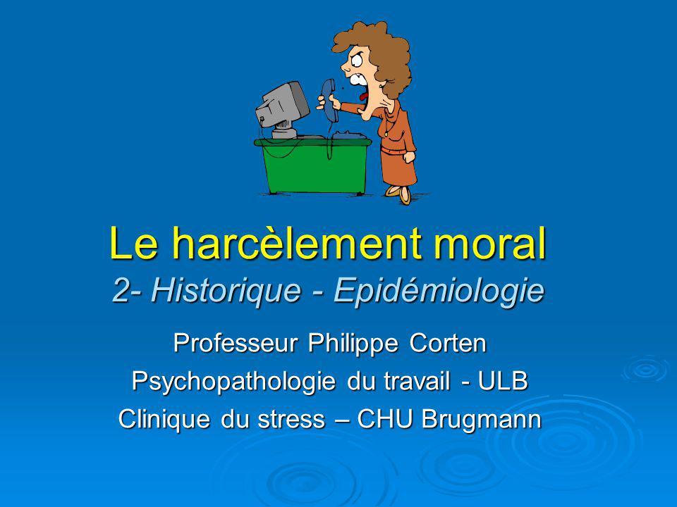 Le harcèlement moral 2- Historique - Epidémiologie