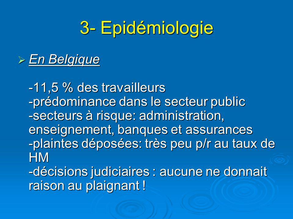 3- Epidémiologie