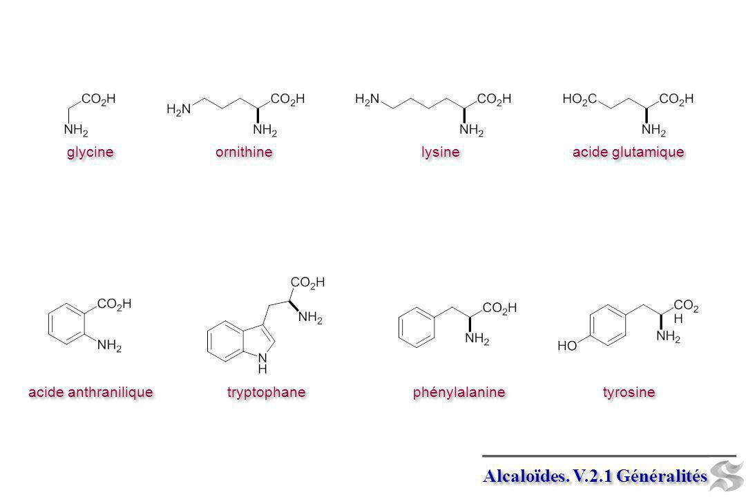 Alcaloïdes. V.2.1 Généralités