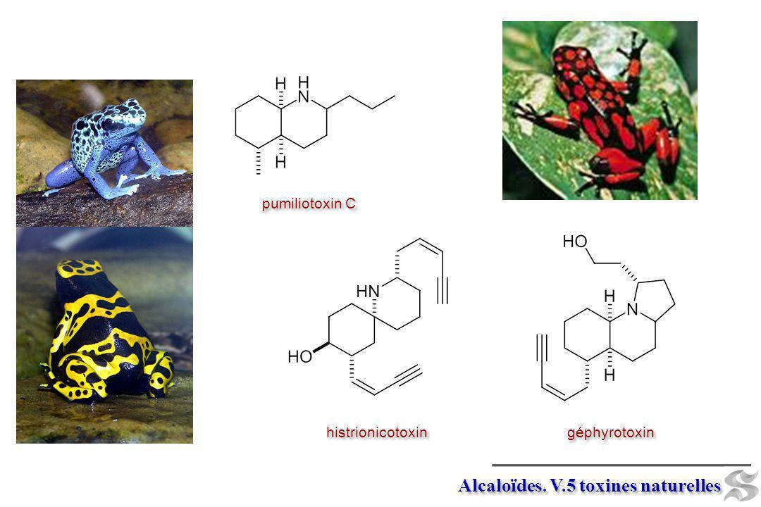 Alcaloïdes. V.5 toxines naturelles