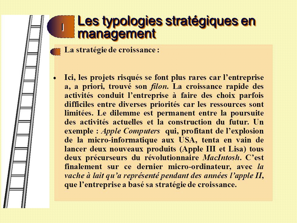 Les typologies stratégiques en management