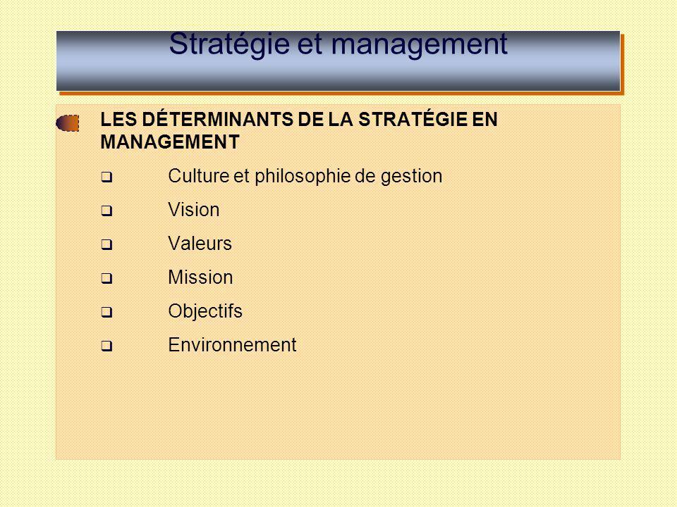 Stratégie et management