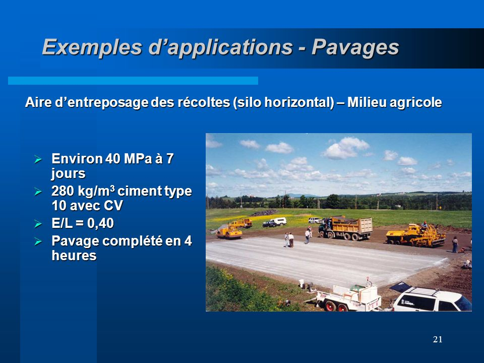 Exemples d'applications - Pavages