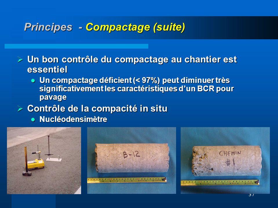 Principes - Compactage (suite)